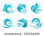 waves vector isolated icons.... | Shutterstock .eps vector #530766349