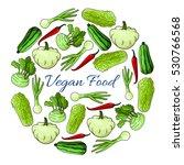 veggies poster. vegan organic... | Shutterstock .eps vector #530766568