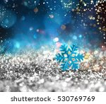 silver sparkly crystal with... | Shutterstock . vector #530769769