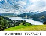 view over zeller see lake. zell ... | Shutterstock . vector #530771146