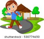 cute boy go to school | Shutterstock .eps vector #530774650