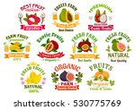 juice fruits icons. fruit juice ... | Shutterstock .eps vector #530775769