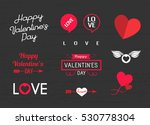 valentines day sign and symbols ... | Shutterstock .eps vector #530778304