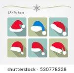 santa hats | Shutterstock .eps vector #530778328