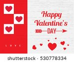 happy valentines day card | Shutterstock .eps vector #530778334
