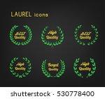 laurel wreath for premium... | Shutterstock .eps vector #530778400