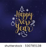 happy new year 2017 text design.... | Shutterstock .eps vector #530785138