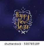 happy new year 2017 text design.... | Shutterstock .eps vector #530785189
