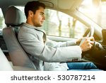 portrait of a man driving his... | Shutterstock . vector #530787214