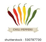 colorful fresh chili peppers... | Shutterstock .eps vector #530787730