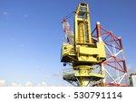 large crane vessel installing... | Shutterstock . vector #530791114