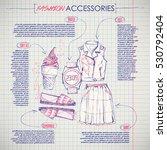 scheme  sketch of  fashion... | Shutterstock .eps vector #530792404