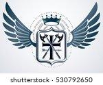 vintage decorative heraldic... | Shutterstock .eps vector #530792650