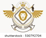 heraldic coat of arms...   Shutterstock .eps vector #530792704
