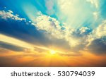 beautiful sunset sky with sun... | Shutterstock . vector #530794039