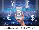 holding smart phone showing the ... | Shutterstock . vector #530794198