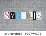 syphilis word on grey... | Shutterstock . vector #530794378