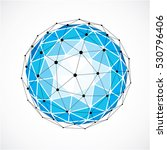 abstract 3d faceted figure with ... | Shutterstock .eps vector #530796406