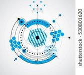 technical blueprint  vector... | Shutterstock .eps vector #530801620