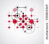 bauhaus retro wallpaper  art... | Shutterstock .eps vector #530803369