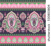 indian floral paisley medallion ... | Shutterstock .eps vector #530803804