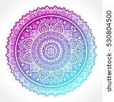 indian floral paisley medallion ... | Shutterstock .eps vector #530804500