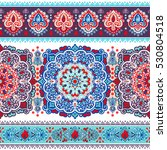 indian floral paisley medallion ... | Shutterstock .eps vector #530804518