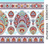 indian floral paisley medallion ... | Shutterstock .eps vector #530804590