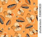 floral background in brown... | Shutterstock . vector #530805820