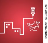 stand up comedy cartoon theme... | Shutterstock . vector #530805928