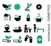 spa icon set | Shutterstock .eps vector #530807923