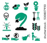sprout icons set | Shutterstock .eps vector #530807950