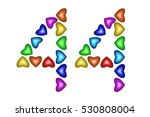Number 44 Of Colorful Hearts O...