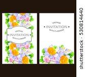 vintage delicate invitation... | Shutterstock .eps vector #530814640