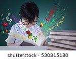 portrait of a little girl... | Shutterstock . vector #530815180