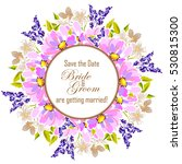 vintage delicate invitation... | Shutterstock . vector #530815300