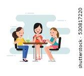 people drink coffee in coffee... | Shutterstock .eps vector #530817220