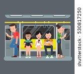 people in subway | Shutterstock .eps vector #530817250