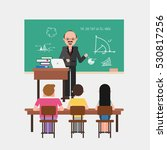 math lesson in classroom | Shutterstock .eps vector #530817256