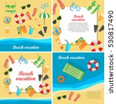 beach vacation vector concept... | Shutterstock .eps vector #530817490