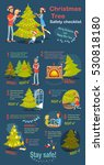 christmas tree safety cheklist. ... | Shutterstock .eps vector #530818180