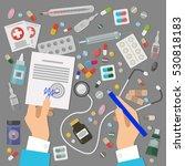 pharmaceutics banner set.... | Shutterstock .eps vector #530818183
