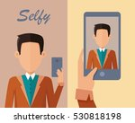 young man in blue shirt and...   Shutterstock .eps vector #530818198