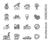 ecology icon set. line style... | Shutterstock .eps vector #530823013