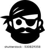 pirate with eyepatch icon | Shutterstock .eps vector #530829358