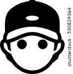 man wearing baseball cap icon | Shutterstock .eps vector #530829364