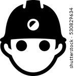 man wearing hard hat icon | Shutterstock .eps vector #530829634