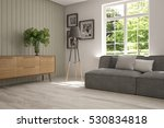 white room with sofa and green... | Shutterstock . vector #530834818