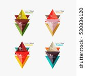 set of triangle layouts with... | Shutterstock .eps vector #530836120