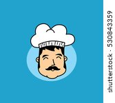 funny cartoon chef | Shutterstock . vector #530843359